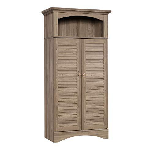 Sauder Harbor View Storage Cabinet, Salt Oak finish