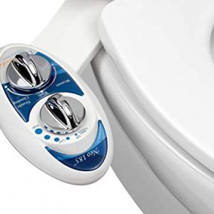 Luxe Bidet Neo 185 (Elite) Non-Electric Bidet Toilet Attachment w/ Self-cleaning Dual Nozzle and Easy Water Pressure Adjustment for Sanitary and Feminine Wash (Blue and White)