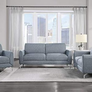 Lexicon Hotevilla 3-Piece Sofa Set, Blue