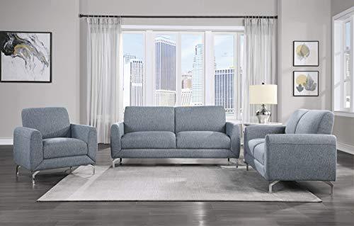Lexicon Hotevilla 3-Piece Sofa Set, Blue