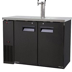 Kegco Kegerator Commercial Grade Two Keg Beer Dispenser - Dual Faucet