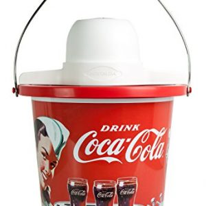 Nostalgia ICMP400COKE Coca-Cola Ice Cream Maker, 4-Quart, Coke Red
