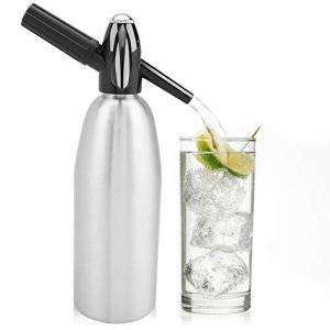 1 Liter Soda Maker Aluminum Soda Siphon Bottle Sparkling Water Maker Seltzer Water Maker for Cocktails,Wine Spritzers and Gin Fizz