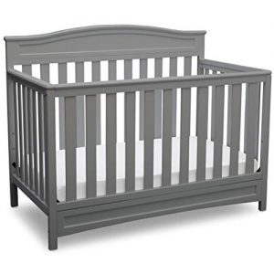 Delta Children Emery 4-in-1 Convertible Baby Crib, Grey