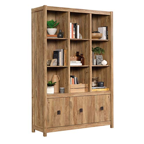 Sauder Cannery Bridge Storage Wall Six adjustable cabinets provide versatile storage choices