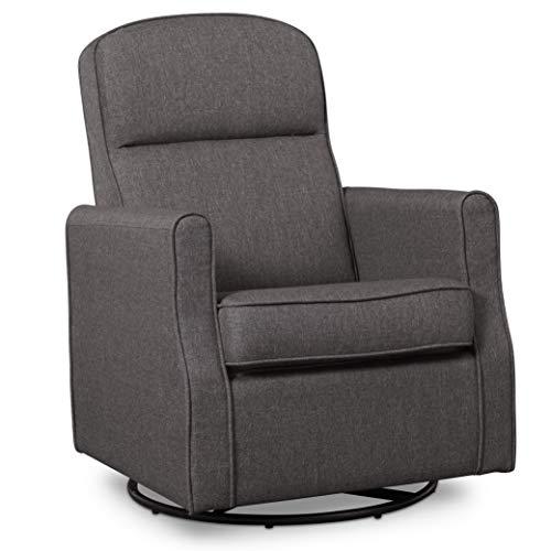 Delta Children Blair Nursery Glider Swivel Rocker Chair, Charcoal