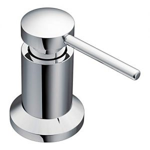 Moen 3942 Deck Mounted Kitchen Soap Dispenser with Above the Sink Refillable Bottle, Chrome