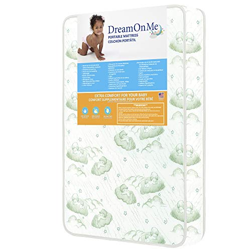 "Dream On Me, 3"" Foam Playard Mattress, White"