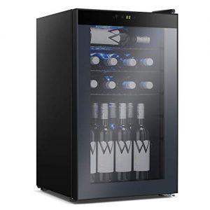Antarctic Star Beverage Refrigerator Cooler - 85 Can Mini Fridge Glass Door for Soda Beer or Wine – Glass Door Small Drink Dispenser Machine Adjustable Removable for Home, Office or Bar, 2.9cu.ft.