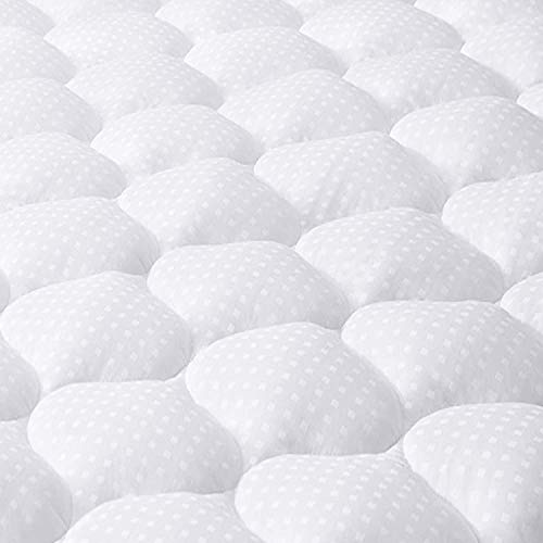 JUEYINGBAILI Mattress Pad Queen Mattress Topper - Quilted Fitted Cooling Queen Mattress Pads - Overfilled with Breathable Snow Down Alternative Filling