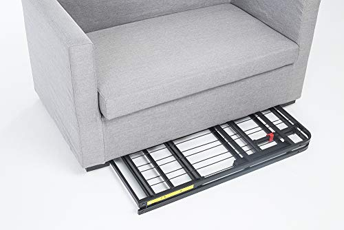 """AmazonBasics Foldable, 14"""" Metal Platform Bed Frame with Tool-Free Assembly Package deal Dimensions: 75.zero x 54.zero x 14.zero inches"""