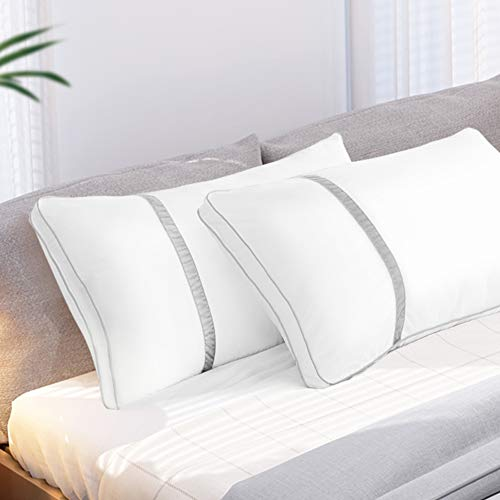 BedStory Pillows for Sleeping 2 Pack, Hotel Quality Bed Pillow King Size, Down Alternative Hypoallergenic Pillows with Ultra Soft Fiber Fill, Good for Back and Side Sleepers