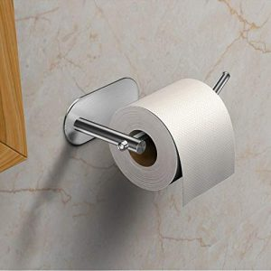 VEEMOS Adhesive Toilet Paper Holder, Toilet Paper Roll Holder for Bathroom - Brushed SUS304 Stainless Steel