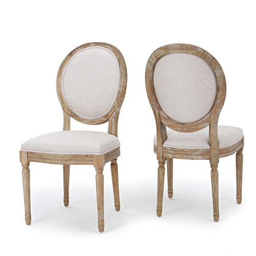 Christopher Knight Home Phinnaeus Fabric Dining Chairs, 2-Pcs Set, Beige