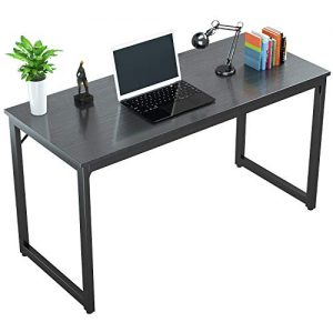 "Foxemart Computer Desk 47"" Modern Sturdy Office Desk PC Laptop Notebook Study Writing Table for Home Office Workstation, Black"