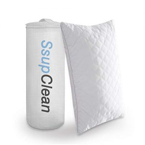 Ssup Clean Premium Bed Pillow for Sleeping | Luxury Hotel Collection Comfortable Pillow | Good for Neck and Back Sleeper & Hypoallergenic (Queen)