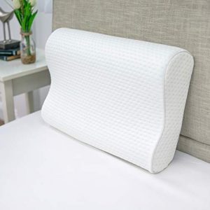 "SensorPEDIC, White Luxury Extraordinaire Contour Oversized Memory Foam Pillow with Ventilated ICOOL Technology, 1'2"" x 1'9"""