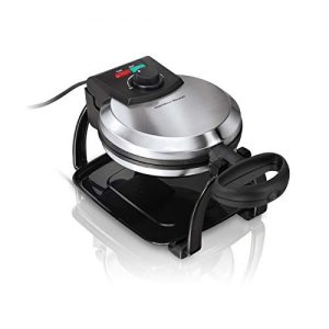 Hamilton Beach Flip Belgian Waffle Maker with Browning Control, Non-Stick Grids, Indicator Lights, Lid Lock and Drip Tray, Stainless Steel (26010R)