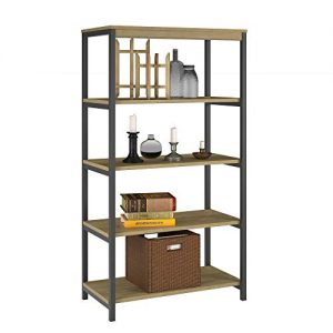 Ameriwood Home Kayden 5 Shelf Bookcase, Golden Oak