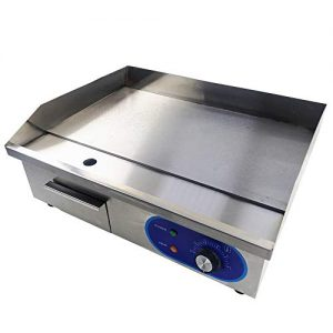 TAIMIKO Commercial Electric Griddle Flat Top Grill HotPlate Kitchen Grill CounterTop Stainless Steel Thermostatic Control 1500W 22""