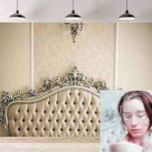 Daniu Photo Backdrops for Baby Studio Props Milky White headboard Wallpaper Background Chair Photography Background Baby Showers Backdrop Vinyl 7x5FT 210cm X 150cm