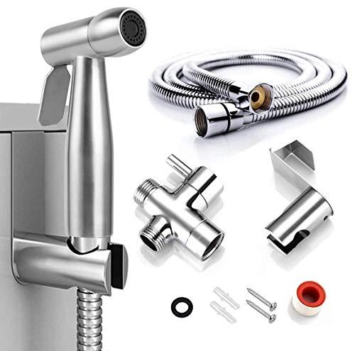 Handheld Bidet Sprayer for Toilet, MENGDIYA Stainless Steel Cloth Diaper Sprayer Kit, Bathroom Water Sprayer Attachment, Bathing Pets, Feminine Hygiene