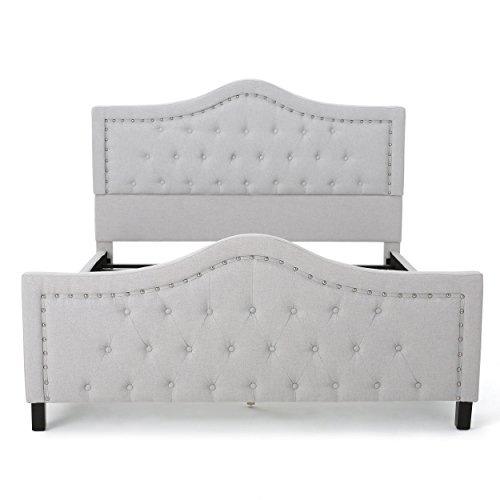 Christopher Knight Home CKH Fully Upholstered Bed Set, Queen, Sky Grey
