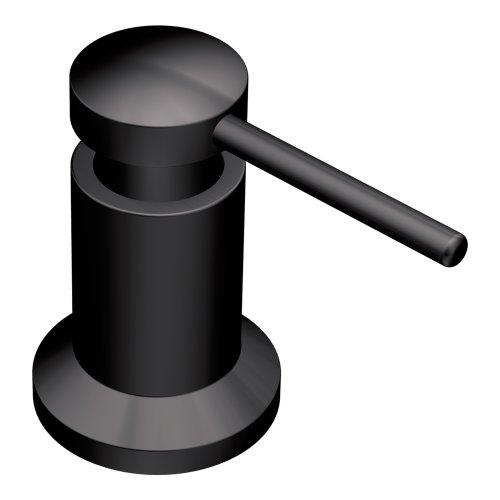 Moen 3942BL Deck Mounted Kitchen Soap Dispenser with Above the Sink Refillable Bottle, Matte Black