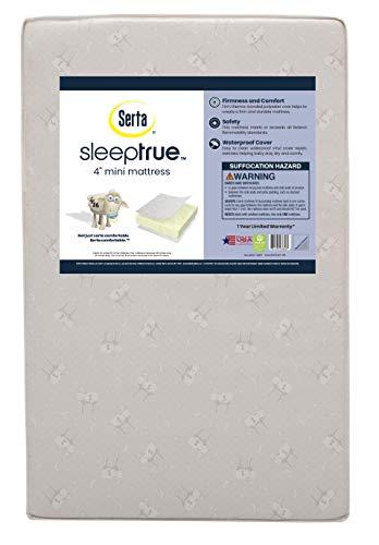 "Serta Sleeptrue 4"" Mini Crib Mattress"