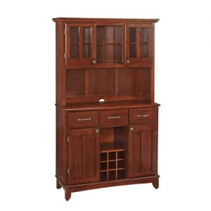 Home Styles Buffet of Buffets Medium Cherry Wood with Hutch, Cherry Finish, 41-3/4-Inch