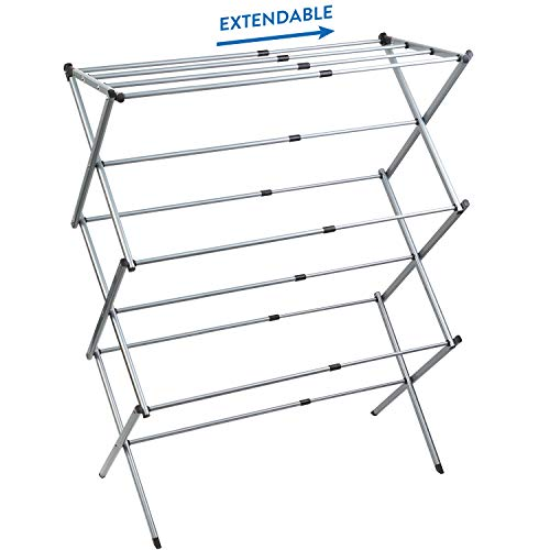 Artmoon Gobi Foldable Drying Laundry Rack, Portable Clothes Horse Made of Rustproof Steel, Extendable 17.3''- 29.5''