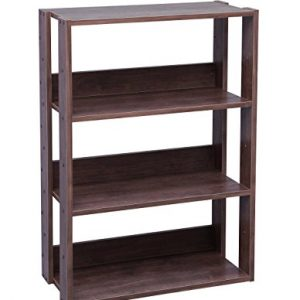 IRIS USA 3-Tier Wide Open Wood Bookshelf, Dark Brown OWR-600BR