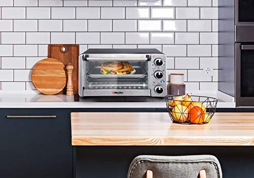 Toaster Oven 4 Slice, Multi-function Stainless Steel Finish with Timer Guarantee: Producers Guarantee