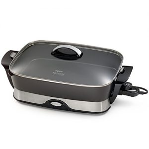Presto 06857 16-inch Electric Foldaway Skillet, Black (Renewed)
