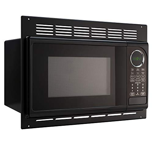 RecPro RV Microwave | .9 Cubic Ft Black Microwave with Trim Kit | 900 Watt (RPM-1-BLK)