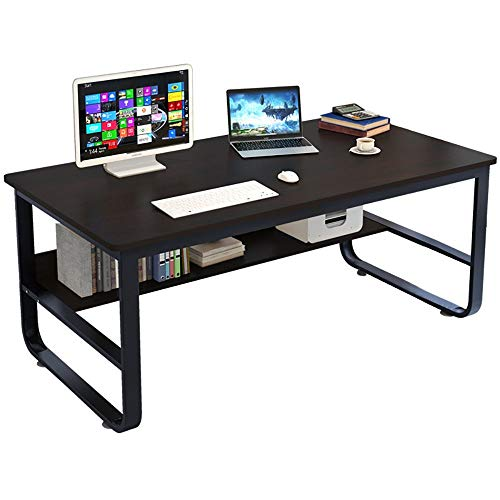Yuege Modern Simple Style Computer Desk,55.2 inch Large Office Desk Notebook Table for Study Game Writing Desk Workstation,Gift for Home & Office [Ship from USA Directly]