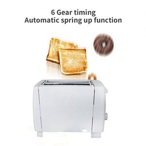 Toaster Household 2 Slice, Retro Small Toaster with Bagel, Cancel, Defrost Function, Extra Wide Slot Compact Stainless Steel Toasters for Bread Waffles, Cream (white)