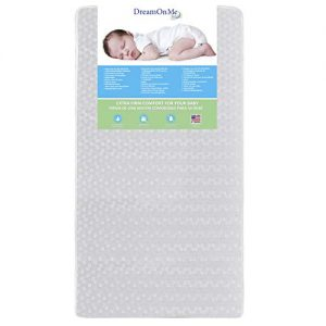 Dream On Me, Orthopedic Firm Foam Standard Crib Mattress, White