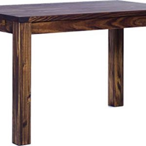 TableChamp Dining Room Table Rio 47 x 30 Oak Antique Solid Wood Pine Dark Brown Oiled Extension Extendable Rectangular
