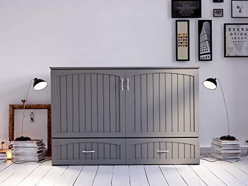 Atlantic Furniture Southampton Murphy Bed Chest with Charging Station Guarantee: 1 12 months restricted producer.