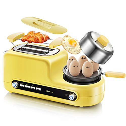 Long Slot Toasters Bangel Toaster, Artisian Bread Toaster Stainless Steel Wide Slot with Automatic Lifting, Slide-Out Glass Panel