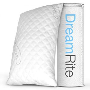 Dream Rite Shredded Hypoallergenic Memory Foam Pillow WonderSleep Series Luxury Adjustable Loft Home Pillow Hotel Collection Grade Washable Removable Cooling Bamboo Derived Rayon Cover- Queen 1 Pack
