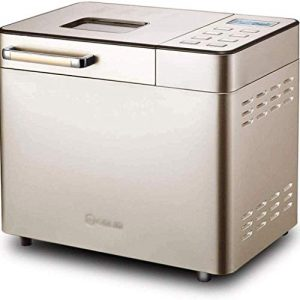 Stainless Steel Bread Machine Programmable Bread Maker,Gluten-Free Setting, Reserve,Keep Warm