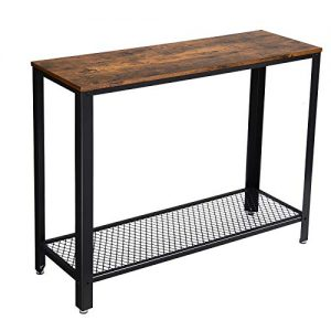 """VASAGLE Industrial Console, Sofa Table, for Entryway, Living Room, Easy Assembly ULNT80X, 40.0""""L x 13.8""""W x 31.5""""H, Rustic Brown"""
