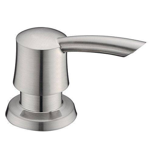 GICASA Bathroom Kitchen Sink Soap Dispenser, High-capacity 320ML ABS Bottle Soap Dispenser Brushed Nickel Finish