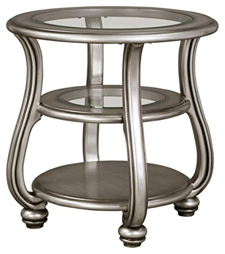 Signature Design by Ashley - Coralayne End Table, Silver