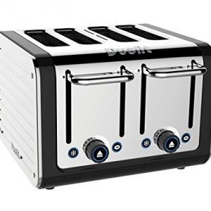 Dualit 46555 4-Slice Design Series Toaster, Black and Steel