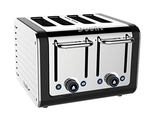 Dualit 46555 4-Slice Design Series Toaster, Black and Steel