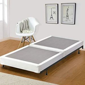 Mattress Solution, Twin 4-inch Fully Assembled Split Box Spring/Foundation For Mattress, Classic Collection, Size, Beige