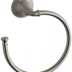 Towel Ring by KOHLER, Bathroom Towel Ring, Devonshire Collection, Vibrant Brushed Nickel, K-10557-BN